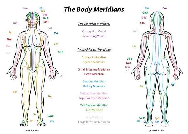 Meridiane für Akupunktur bei Herpes
